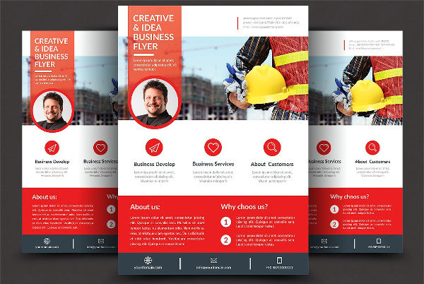 editable construction flyer