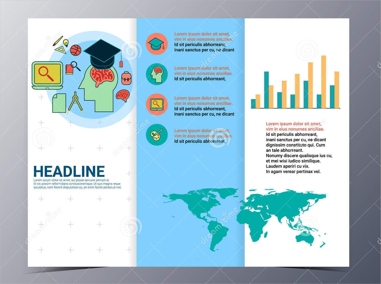 education brochure vector