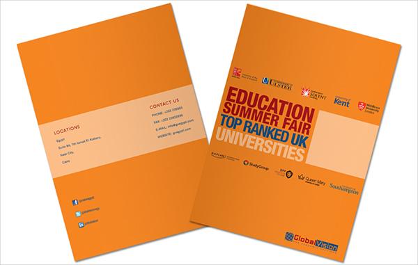 education fair brochure