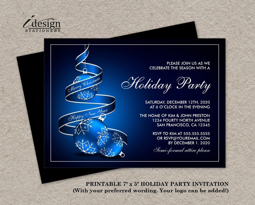 elegant business party invitation