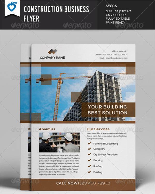 Construction Services Flyer : Downloadable business flyer templates
