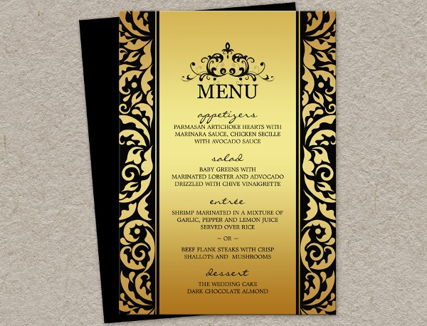 elegant holiday party menu template1