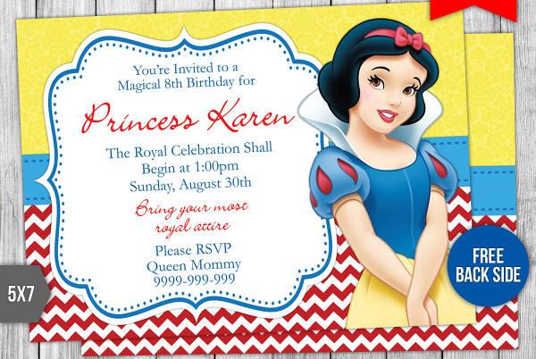 elegant princess party invitation