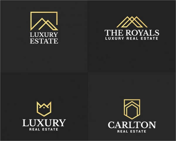 elegant real estate company logo