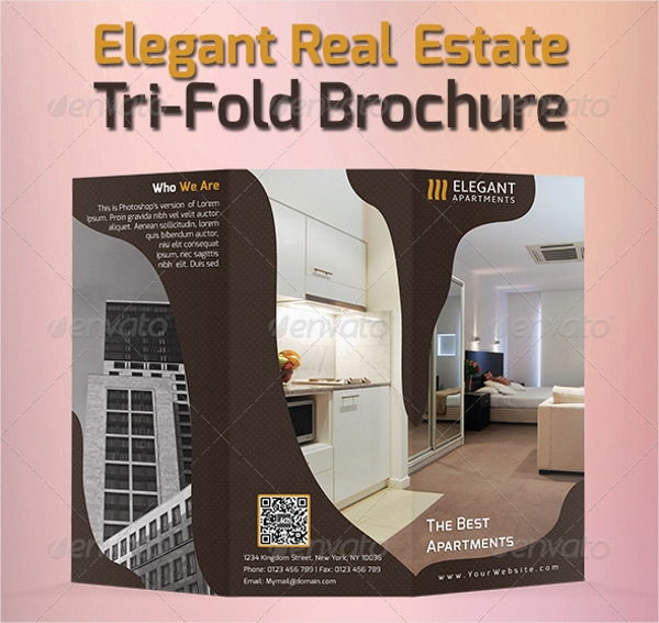 elegant real estate tri fold template