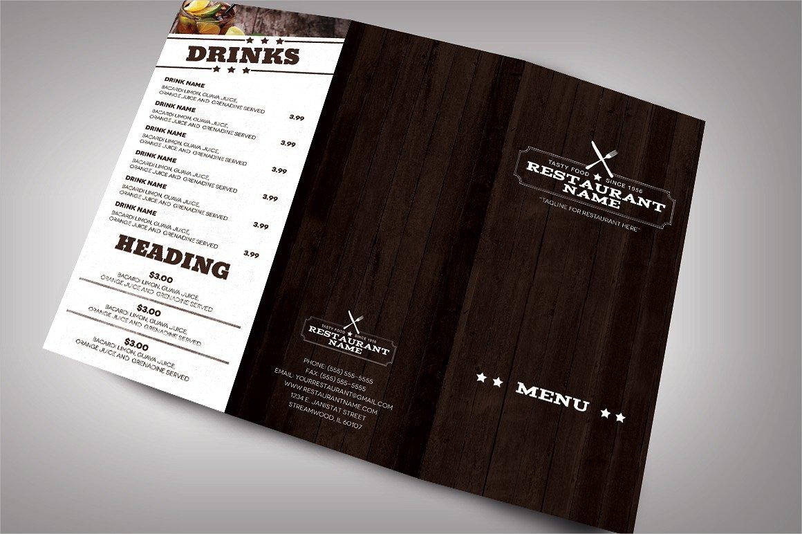 elegant restaurant brochure