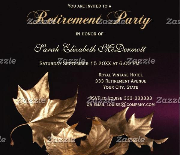elegant retirement party invitation