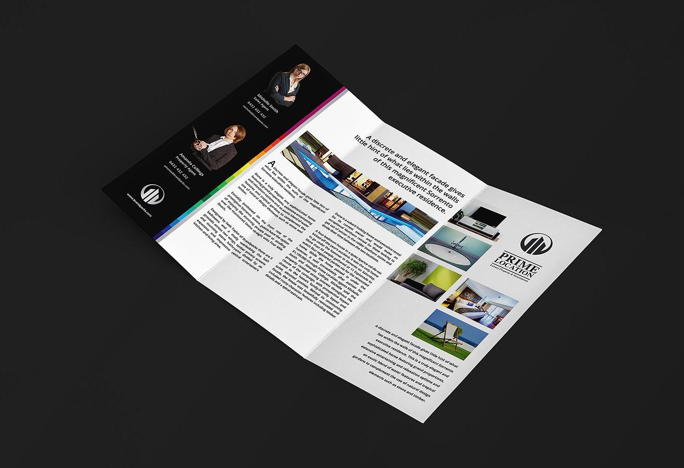 elegant tri fold brochure