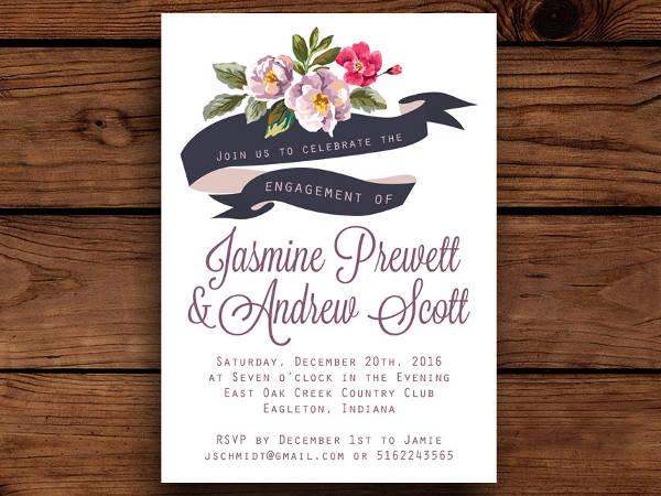 engagement invitation floral banner1