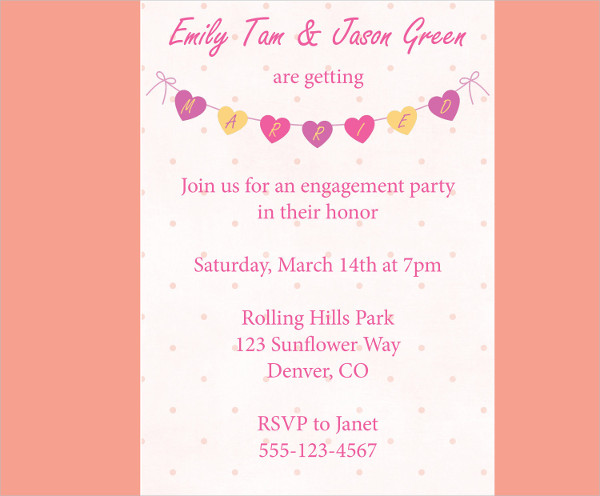engagement party invitation banner