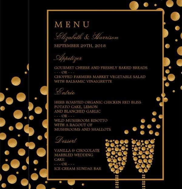 engagement party menu template1