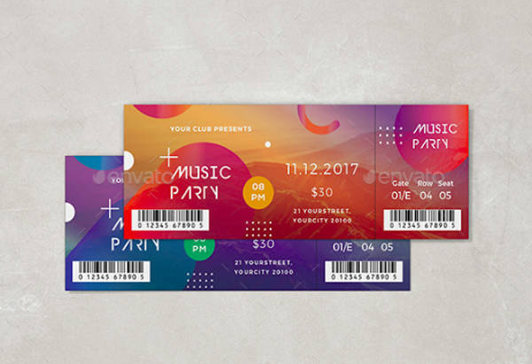 event entrance ticket template