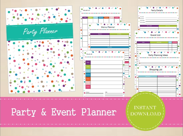 party menu planner template - 23 event menu templates