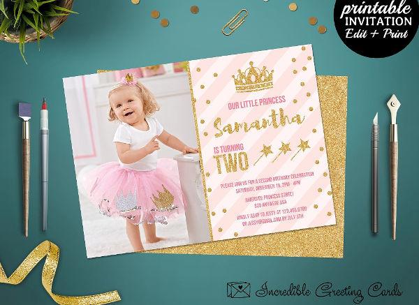 fairy princess party invitation