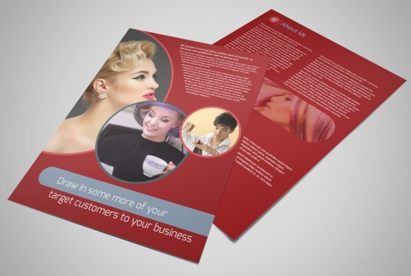 fancy hair salon business flyer