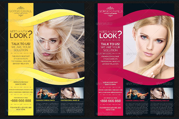 fashion salon business flyer