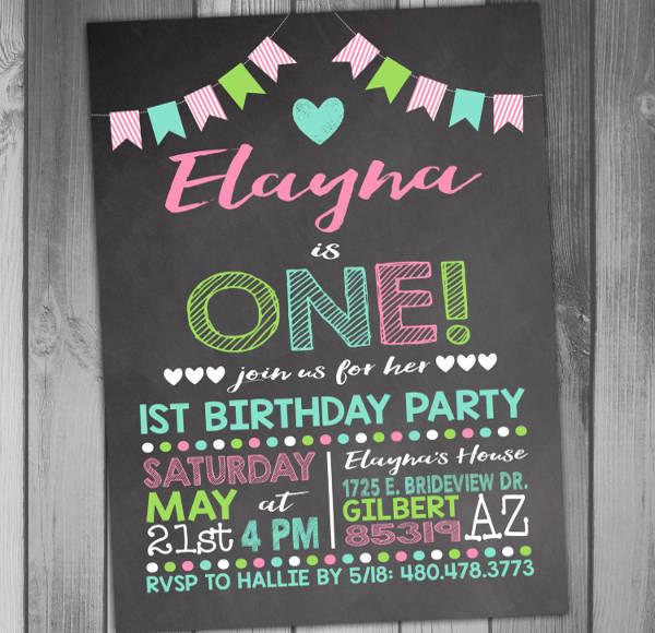 first birthday invitation banner