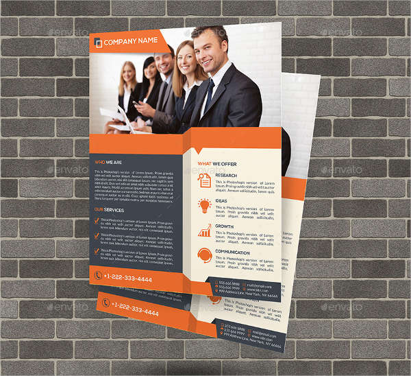 flexible business advertising flyer