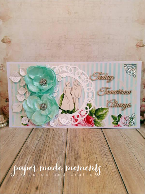 floral wedding greeting card