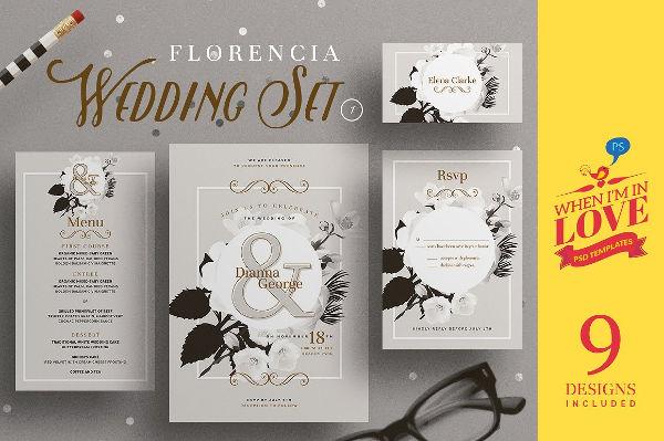 florencia wedding menu template
