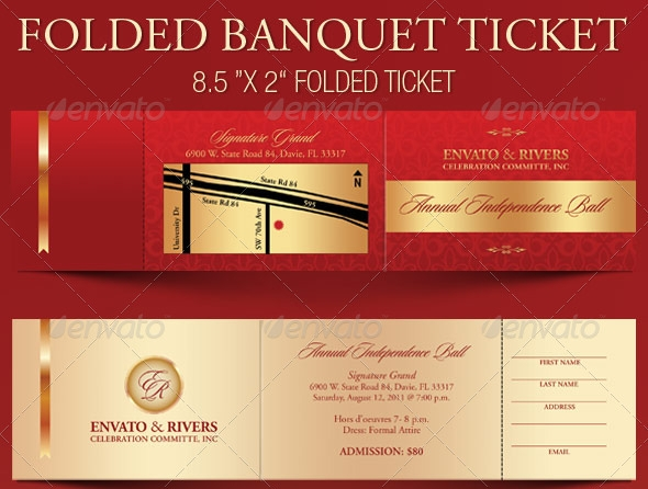 folded banquet ticket template1