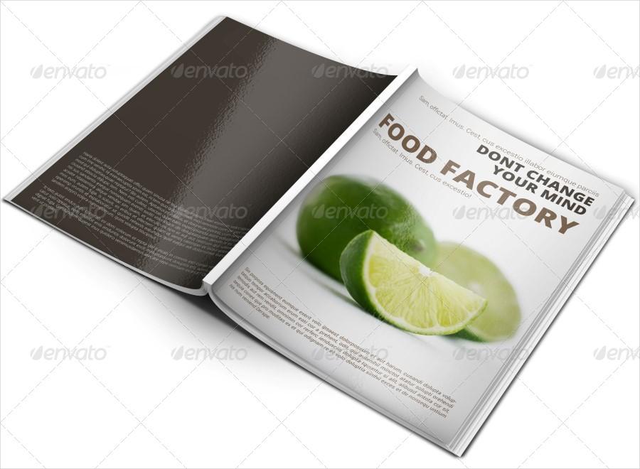 food factory brochure template