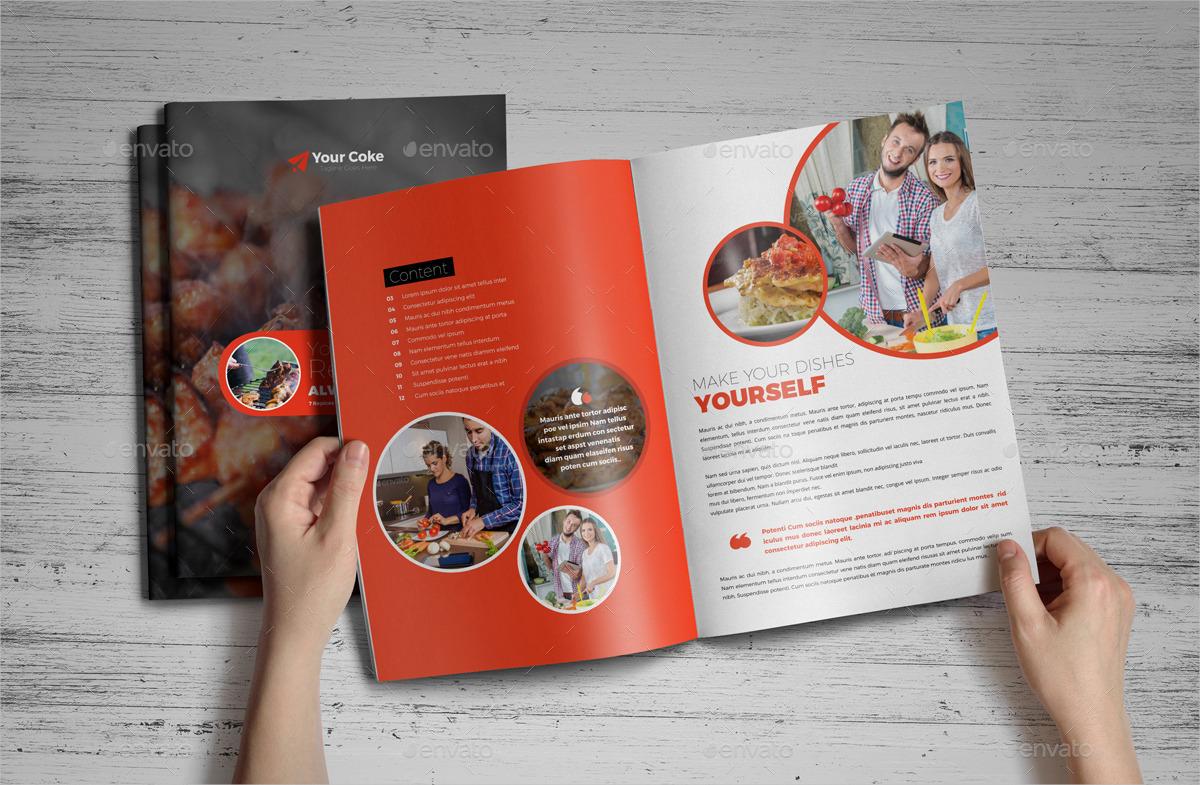 food recipes brochure indesign