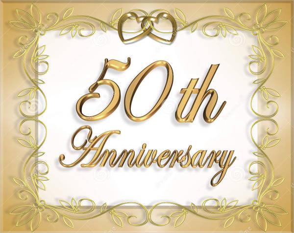 free 50th anniversary card