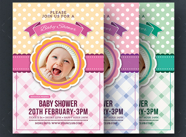 free baby shower invite flyer