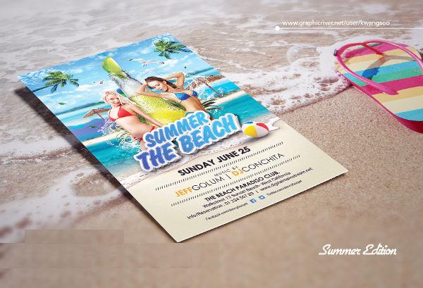 free beach party flyer invitation