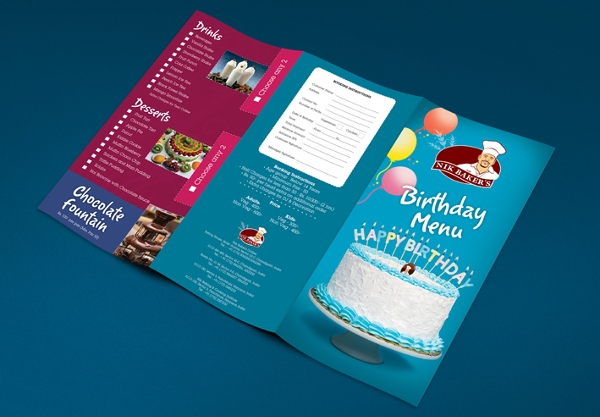 free birthday menu template2