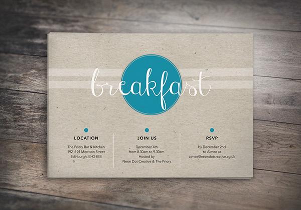 free breakfast party invitation