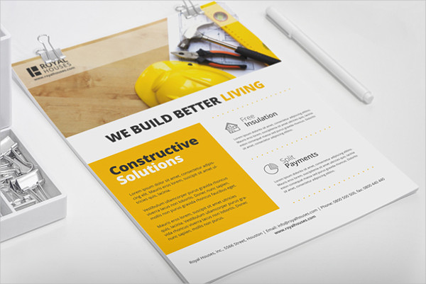 free construction business flyer