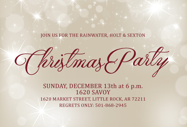 free corporate party invitation