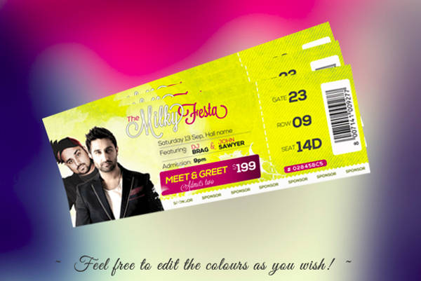 free entrance ticket template
