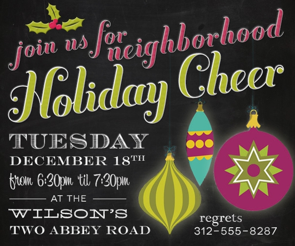 free holiday party invitation