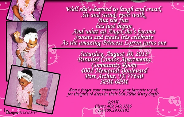 free printable kitty party invitation