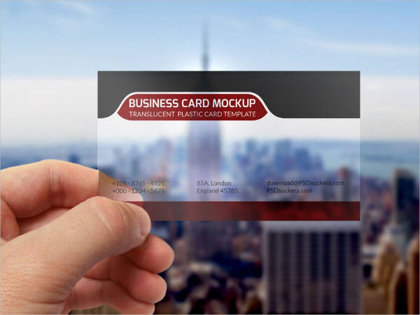free transparent business cards