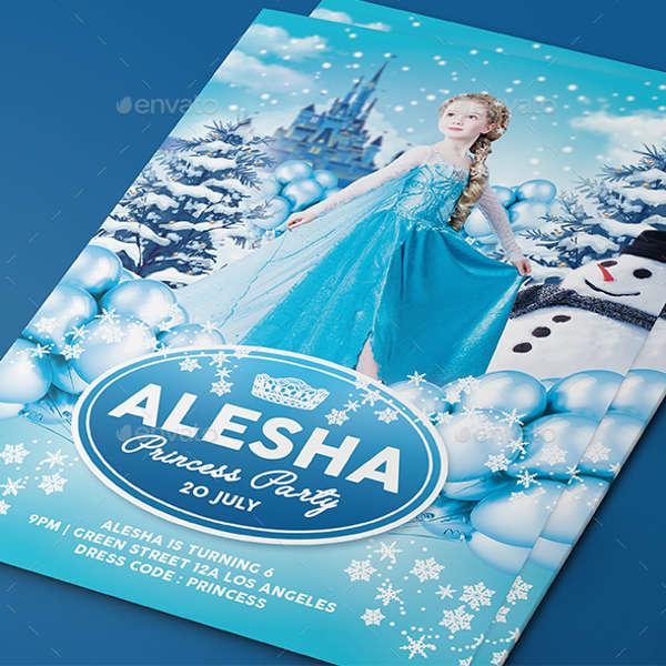 frozen princess party invitation