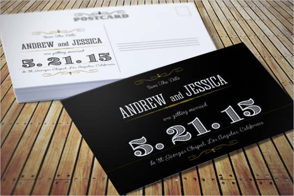 fully editable wedding invitation postcard