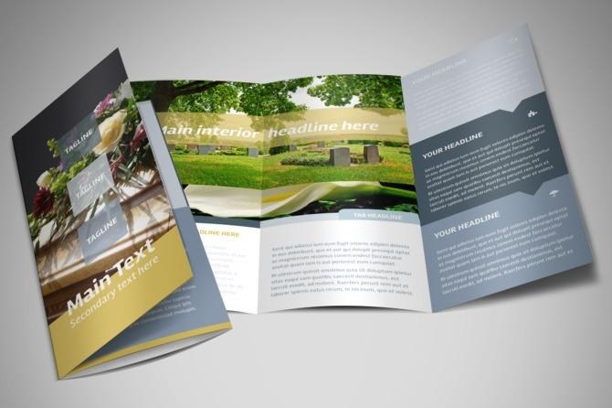funeral service tri fold brochure