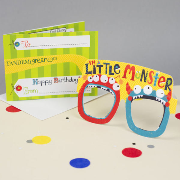 funny monster birthday party card