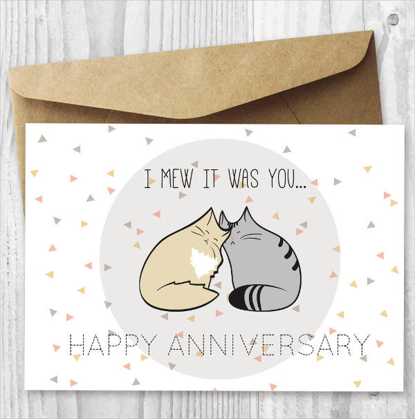 funny printable anniversary card