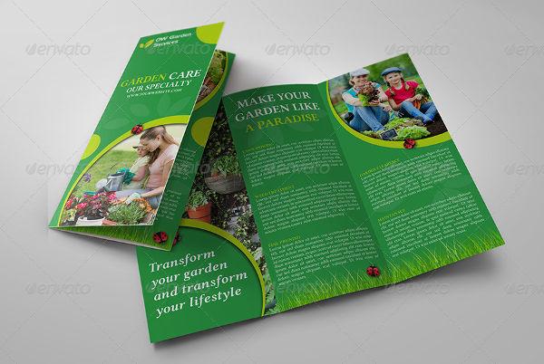 garden care service brochure
