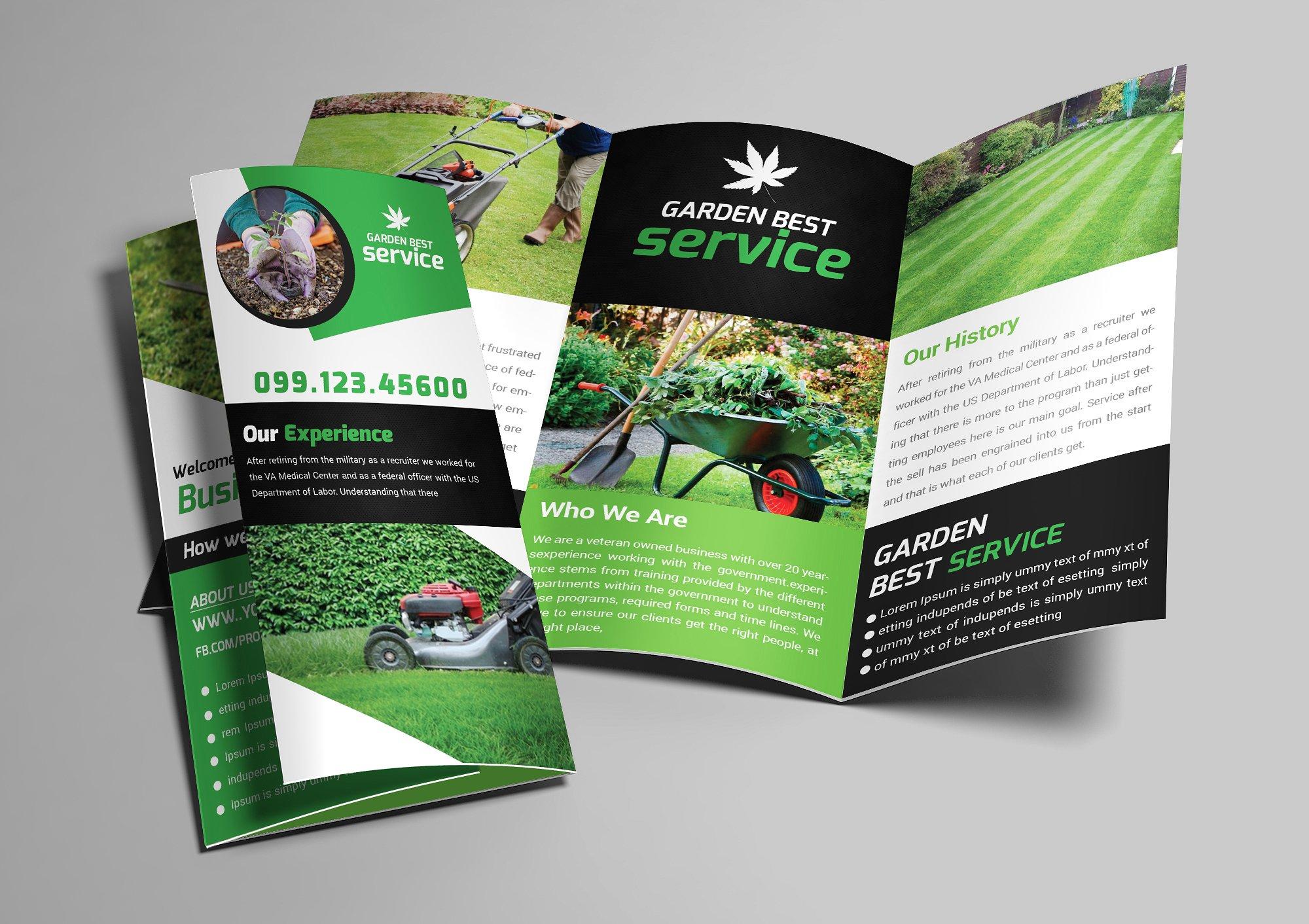 garden service tri fold brochure