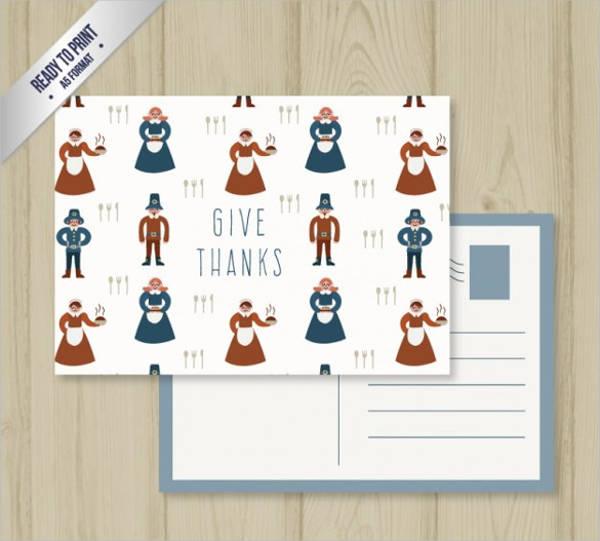 giving thanks postcard