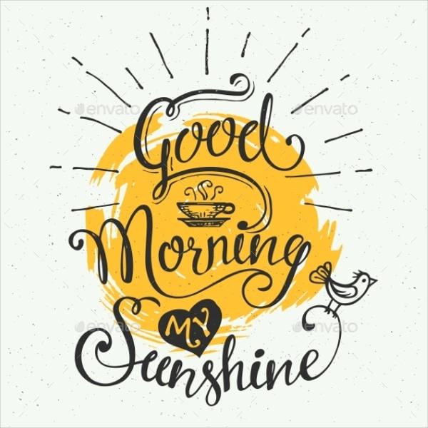 good morning my sunshine card