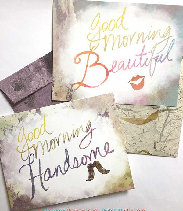 good morning wish card