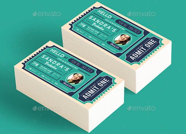 graduation party ticket template1