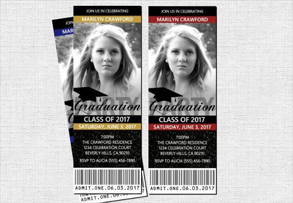 graduation ticket invitation template1